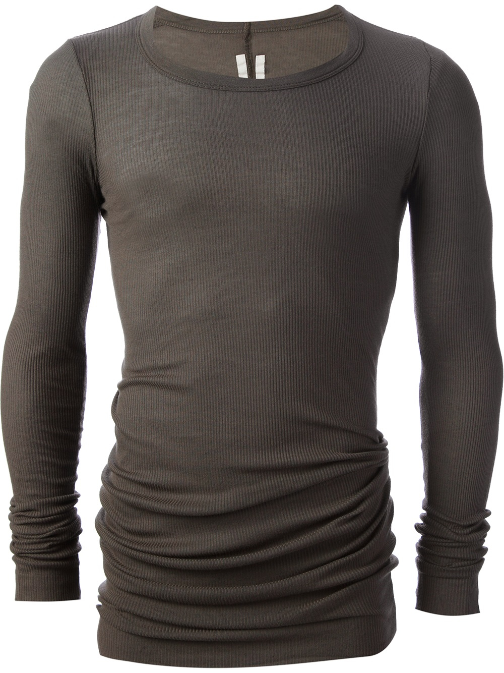 Lyst - Rick Owens Ribbed Tshirt in Gray for Men