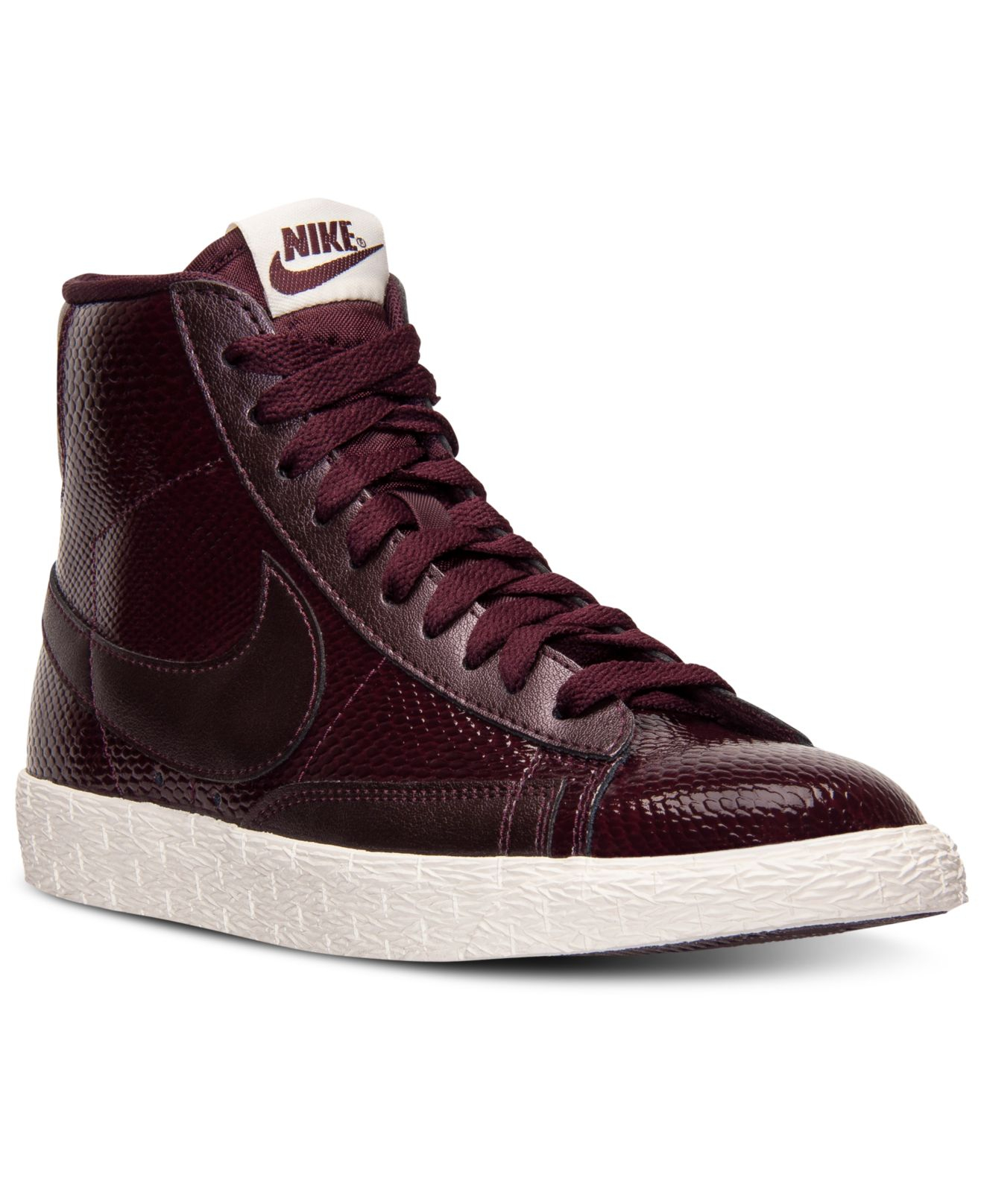 buy popular a06ac bb7c7 Nike Blazer Mid Premium Sneakers in Purple - Lyst