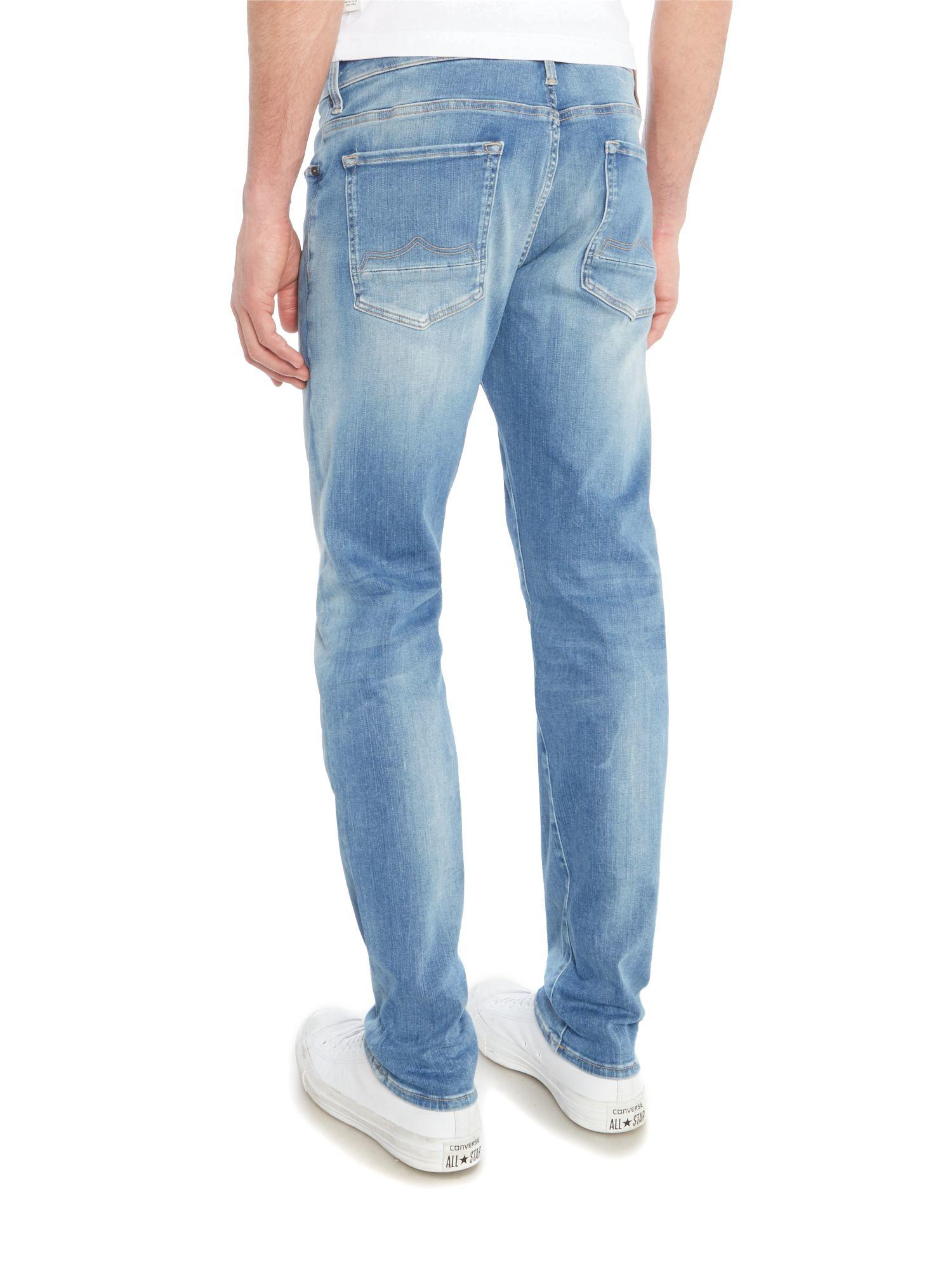 883 Police Denim Laker 346 Slim Activeflex Jeans in Denim Light Wash (Blue) for Men