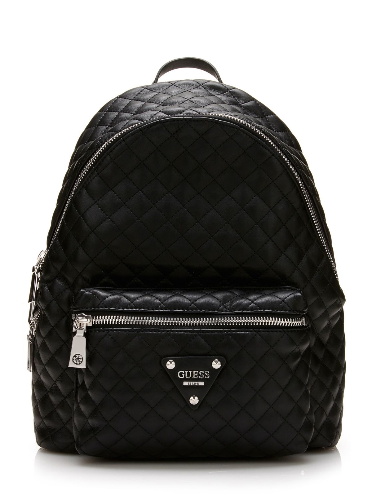 Guess Leeza Quilted Backpack In Black Lyst