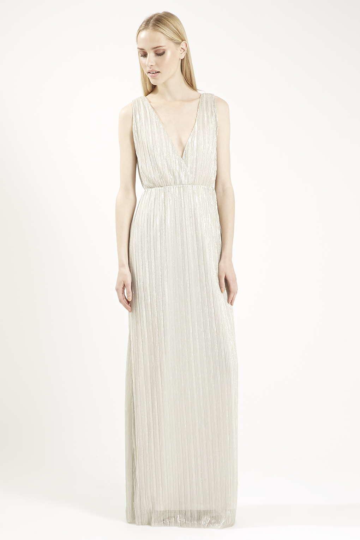 Grecian maxi dress white love