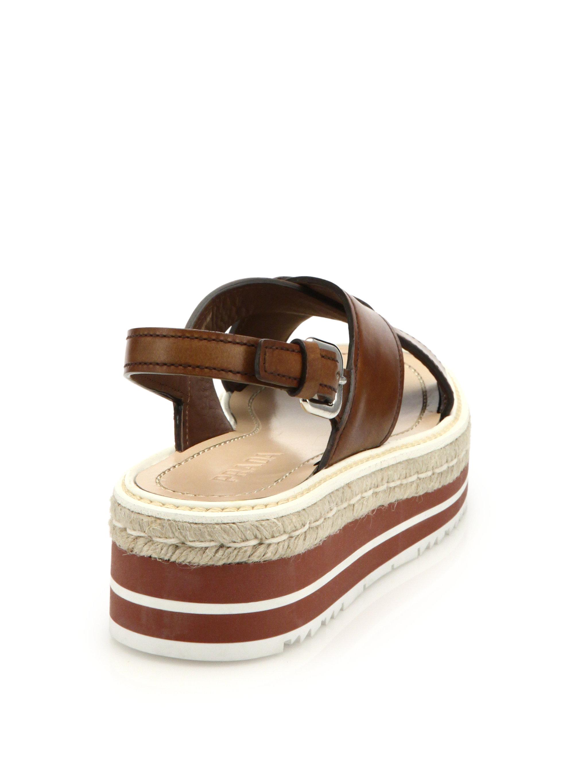 Prada platform sole sandals cheap real zUbG2qK