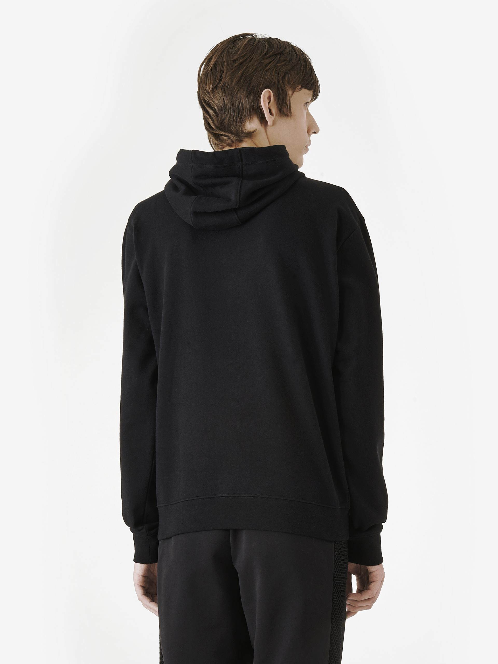 mcq clean swallow hoodie in black for men lyst. Black Bedroom Furniture Sets. Home Design Ideas