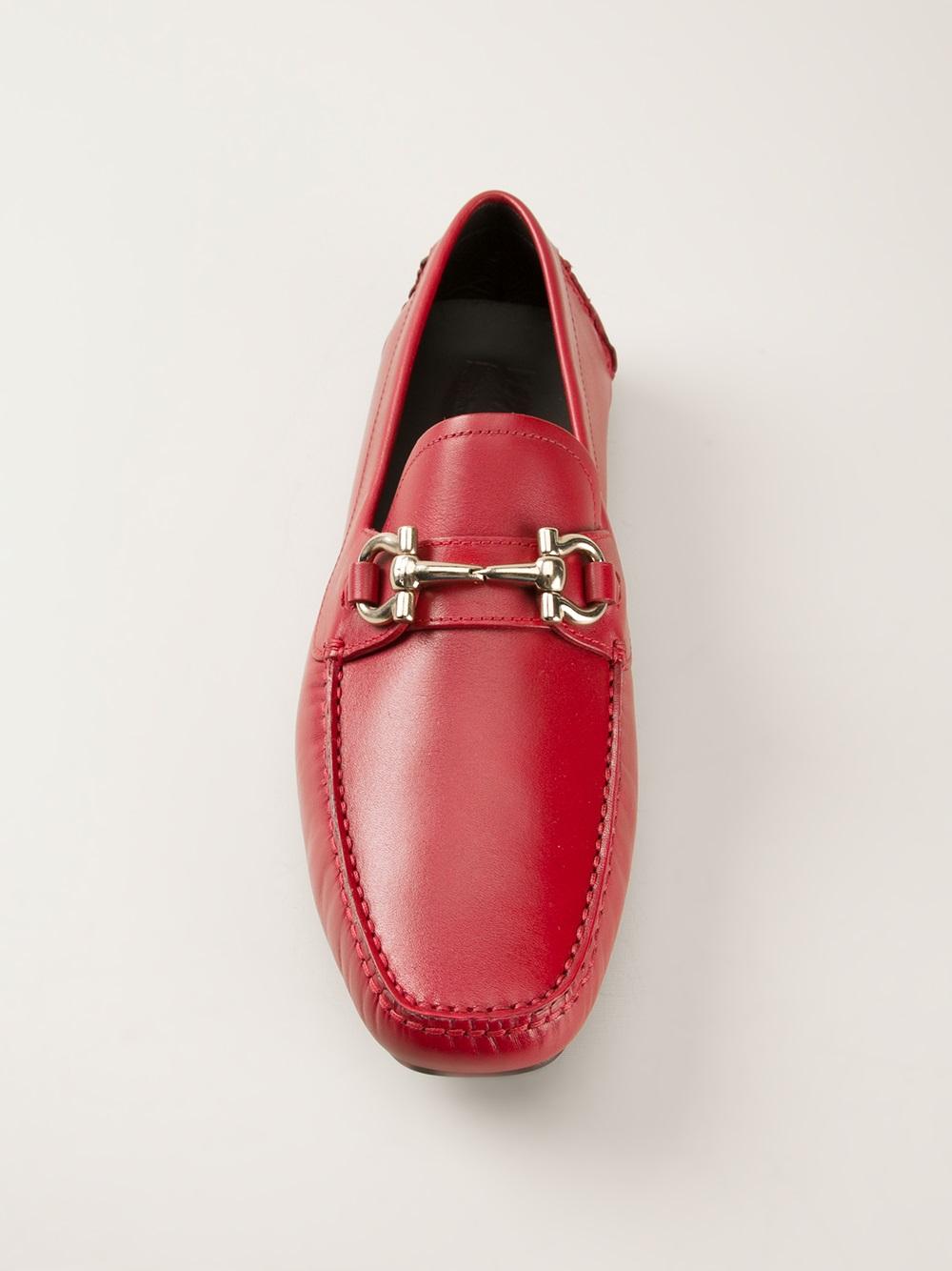 Nylon Itaca Grupo  Ferragamo Parigi Driving Shoes in Red for Men - Lyst