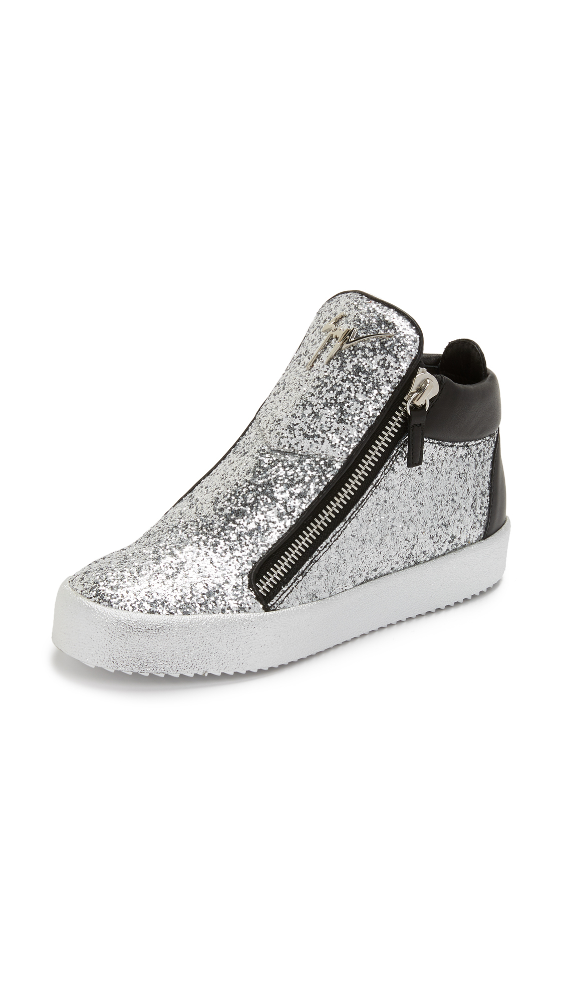 Giuseppe Zanotti Glitter Zip Sneakers (Women's) XRPvG