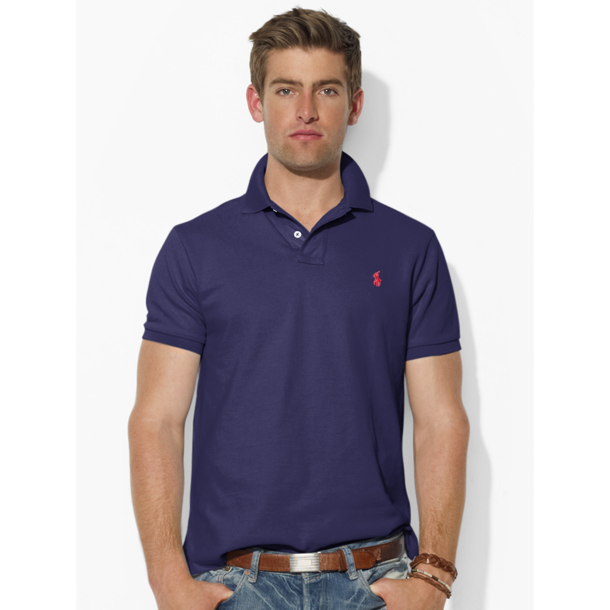 Polo Ralph Lauren Custom Slim Fit Classic Mesh Polo Summer Cook
