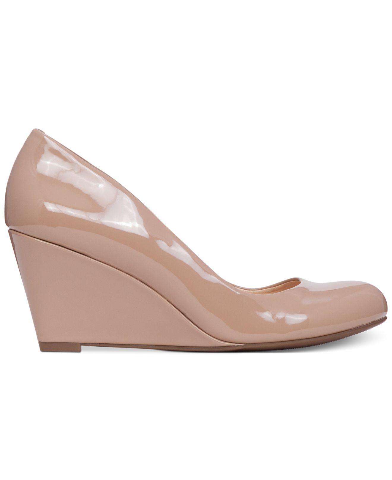 Nude Round Toe Heels