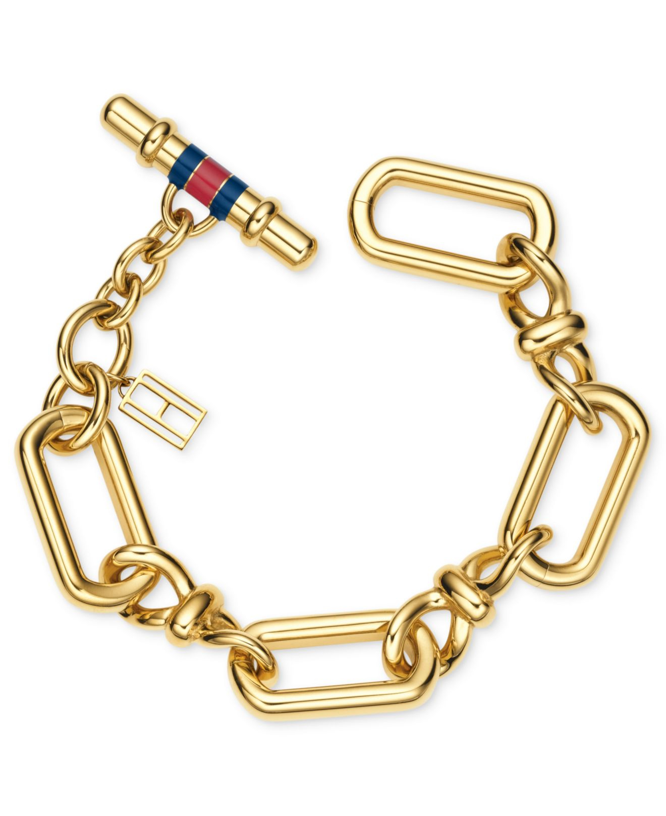 tommy hilfiger gold tone infinity link bracelet in metallic lyst. Black Bedroom Furniture Sets. Home Design Ideas
