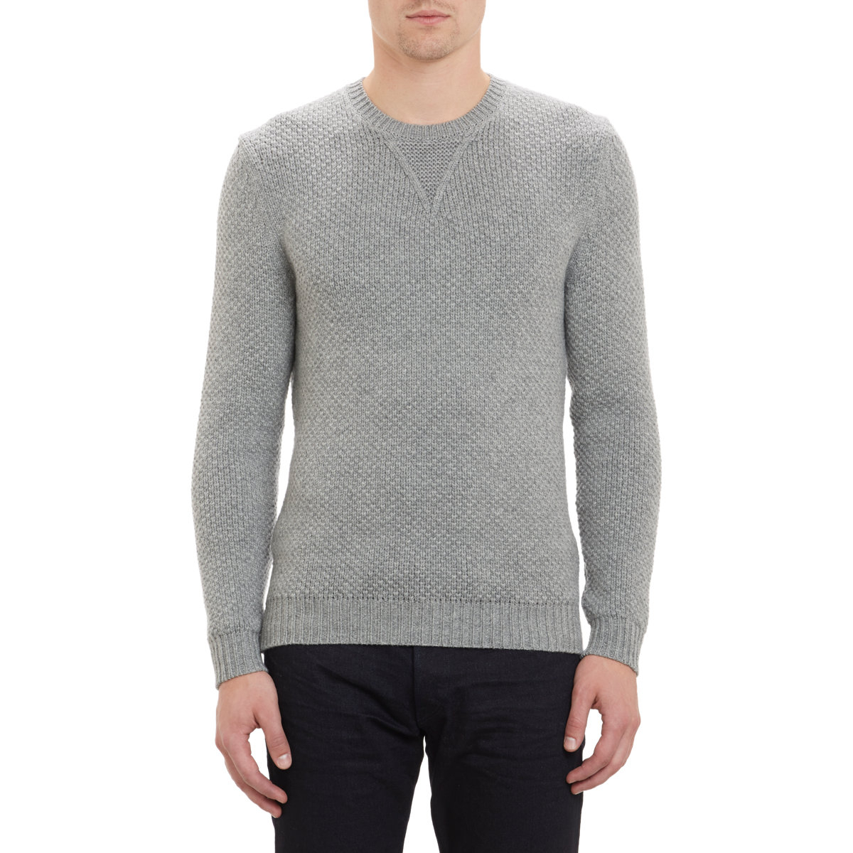 77ec3a6dcd22 Lyst - Exemplaire Seed-Stitch Pullover Sweater in Gray for Men