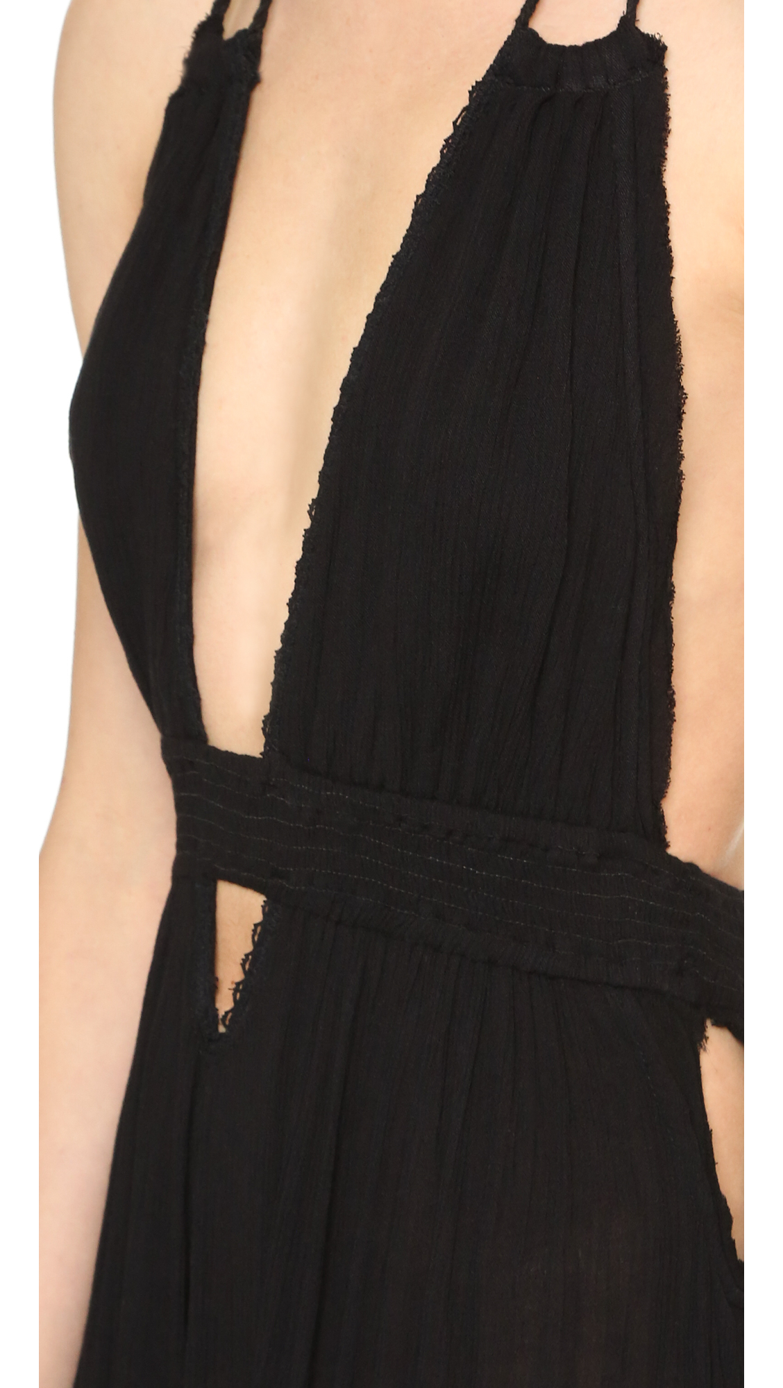 Lyst - Free People Look Into The Sun Maxi Dress in Black e3ae5f9b9