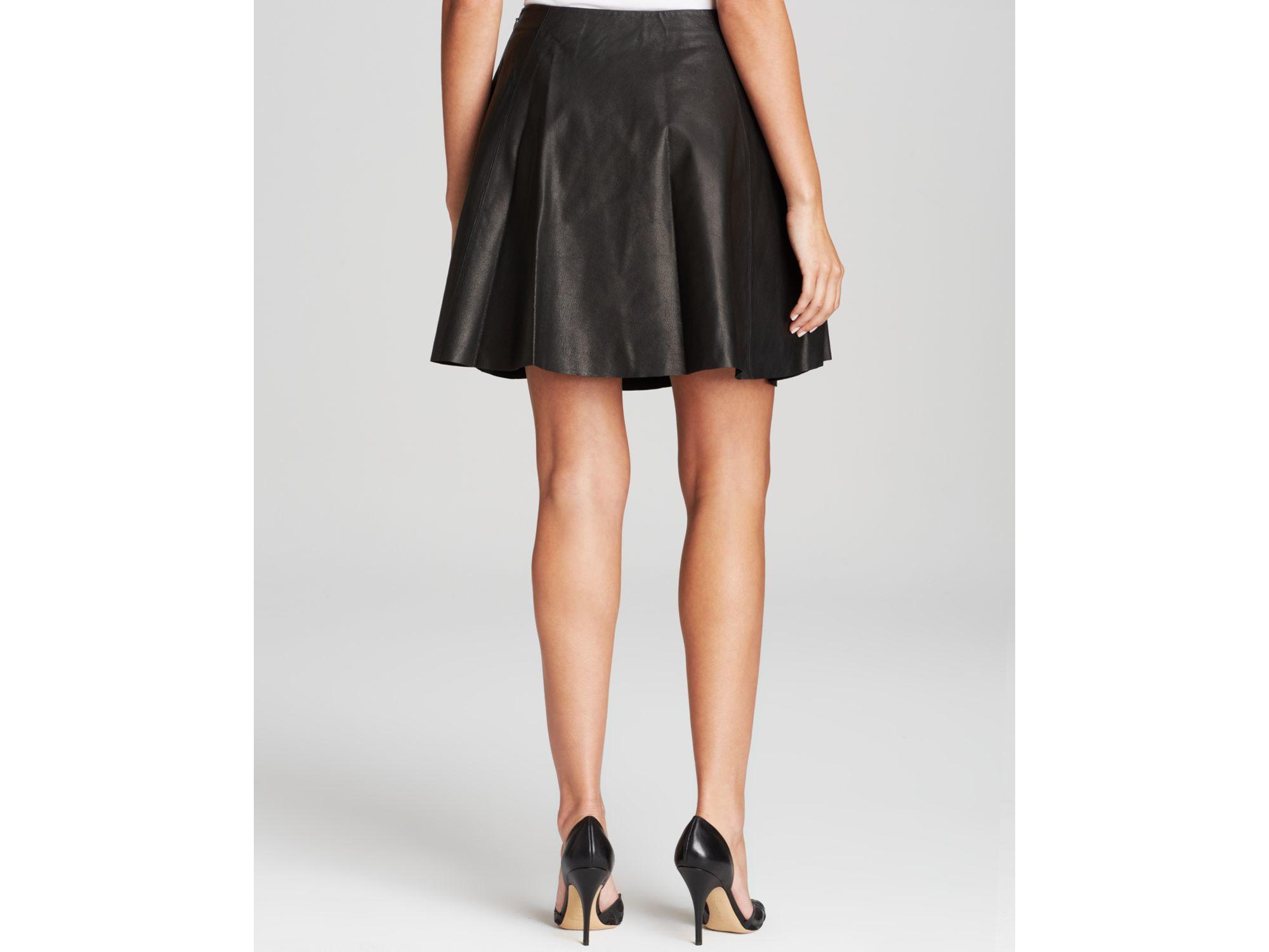 kate spade new york leather mini skirt in black lyst