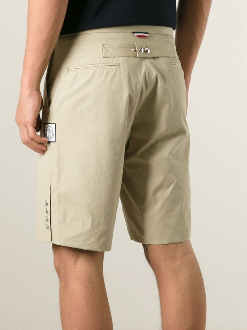 ea4b51dff Lyst - Moncler Gamme Bleu Classic Bermuda Shorts in Natural for Men
