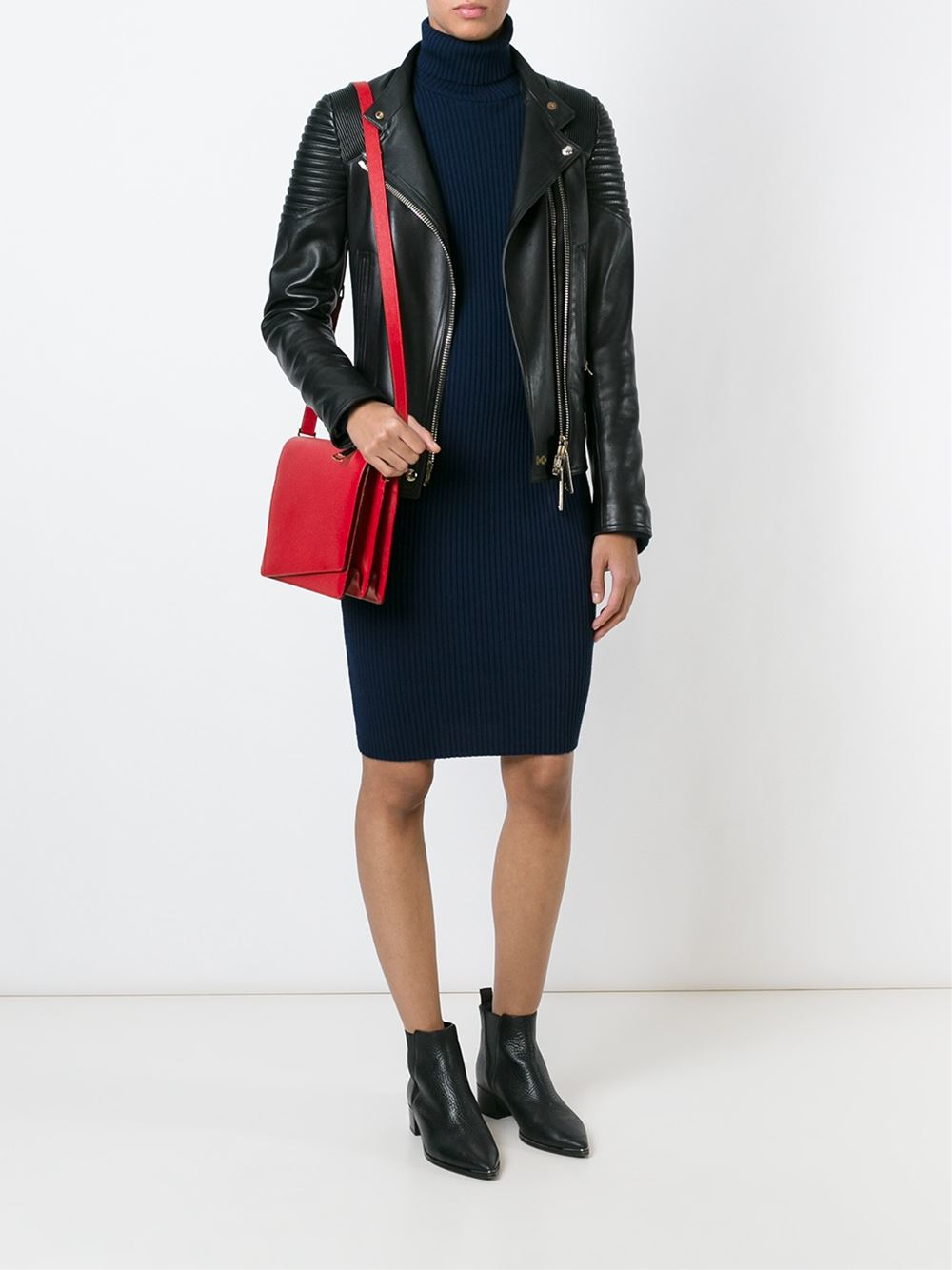 Valextra Twist Cross-Body Bag in Red
