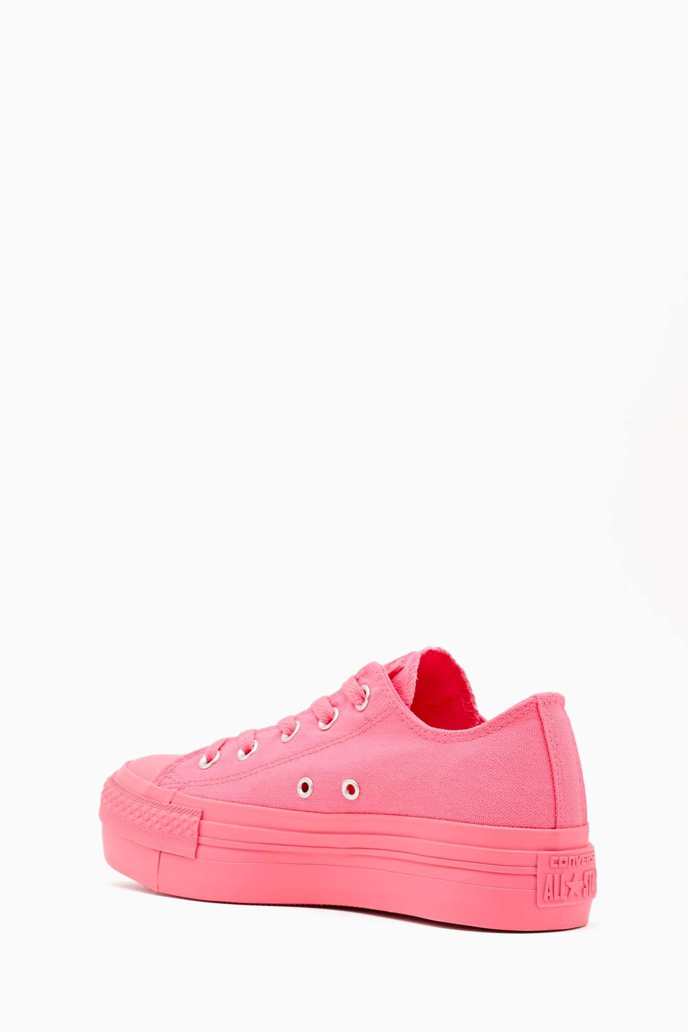 d6651e33eef0ba Lyst - Nasty Gal All Star Platform Sneaker Pink in Pink