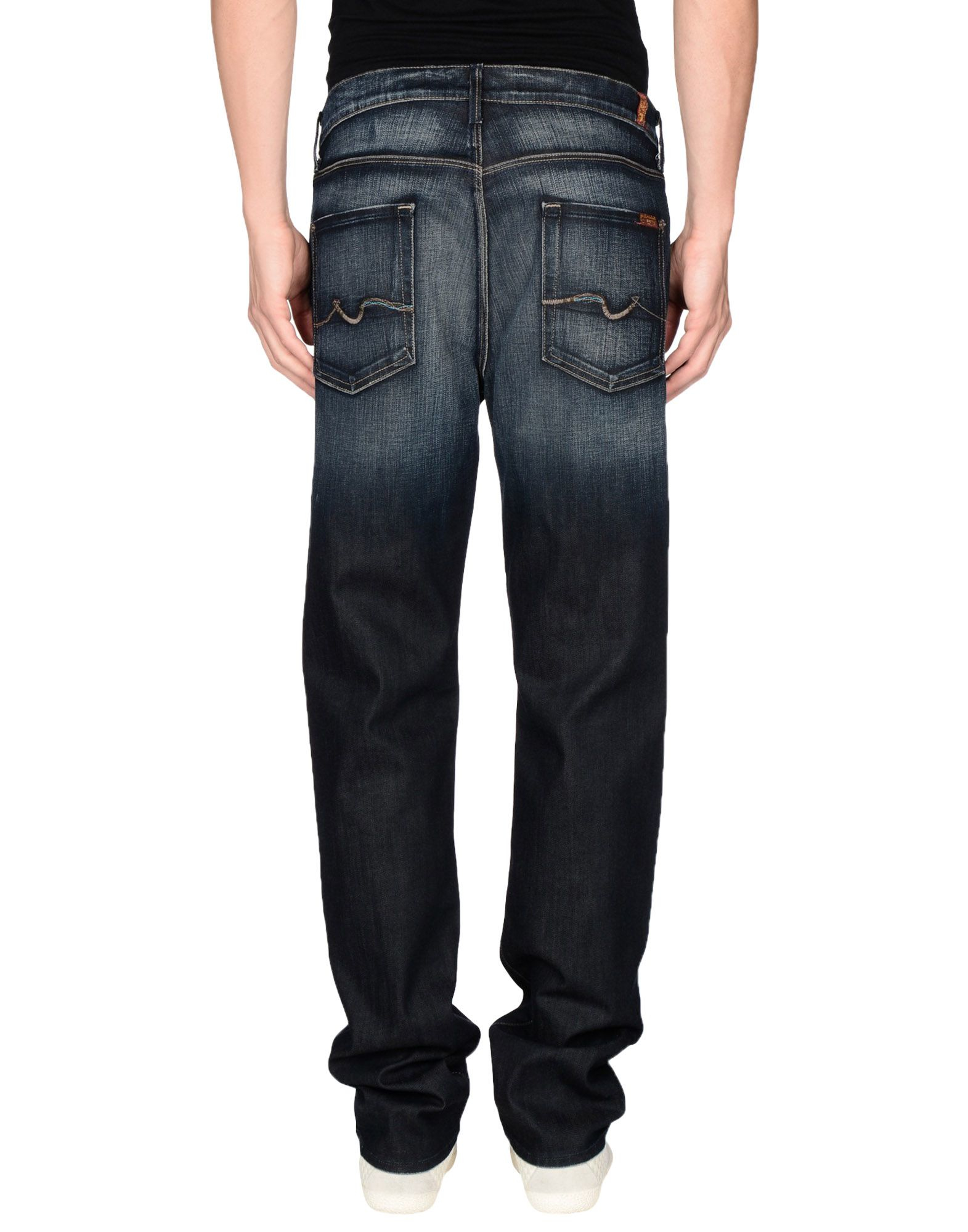 7 for all mankind denim trousers in blue for men lyst. Black Bedroom Furniture Sets. Home Design Ideas