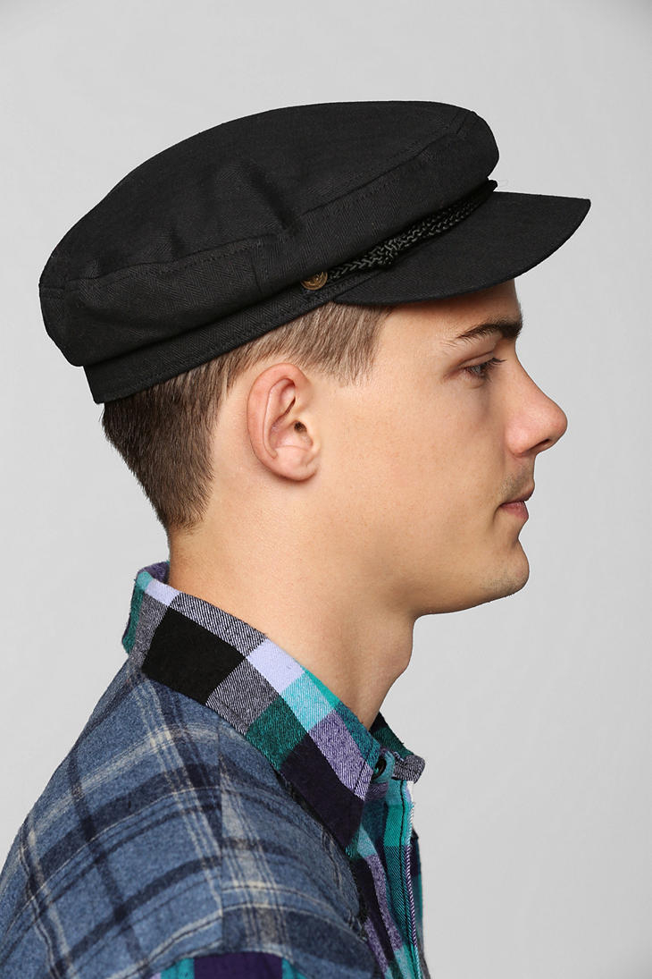 Lyst - Urban Outfitters Brixton Fiddler Fisherman Cap in Black for Men 60210295dd5