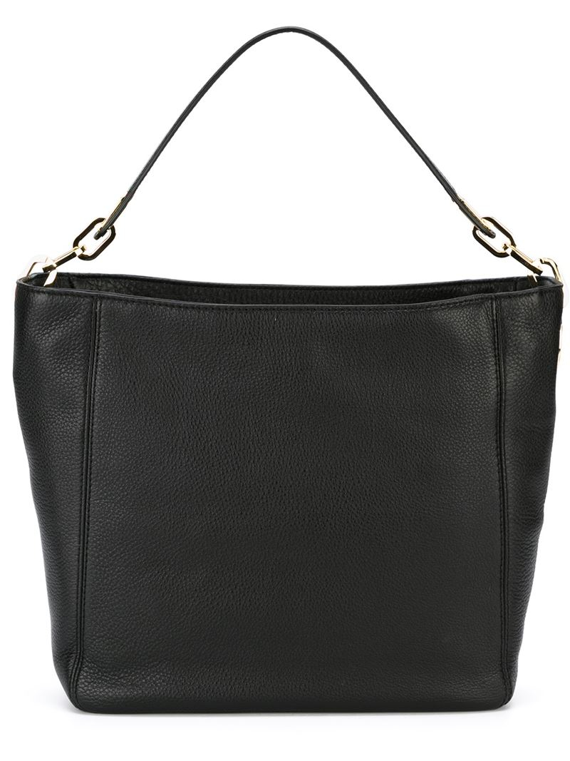 michael michael kors medium fulton hobo tote in black lyst. Black Bedroom Furniture Sets. Home Design Ideas