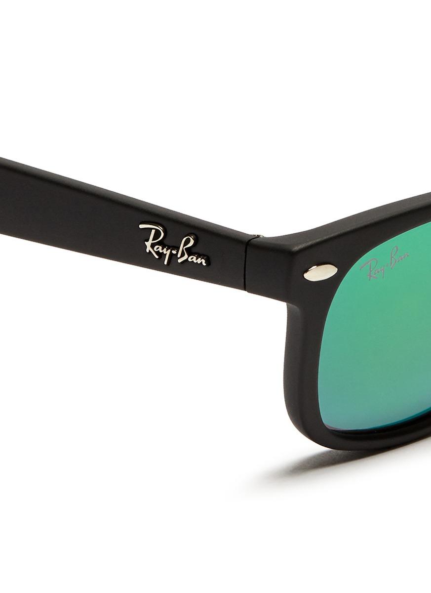 ec8eac40b17a Lyst - Ray-Ban New Wayfarer Junior  Matte Plastic Mirror Sunglasses ...