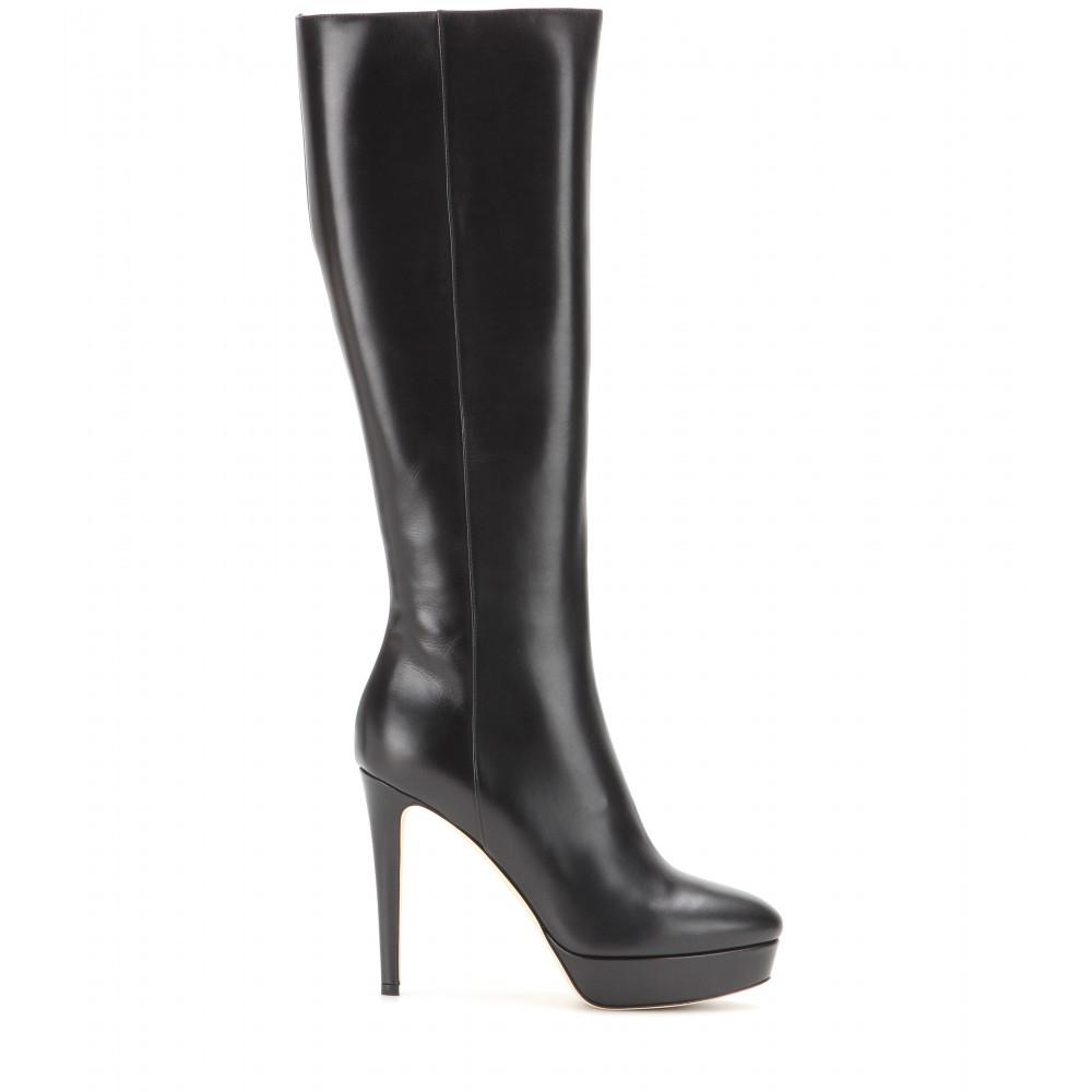 dd54bba7859 Lyst - Jimmy Choo Mara Leather Boots in Black