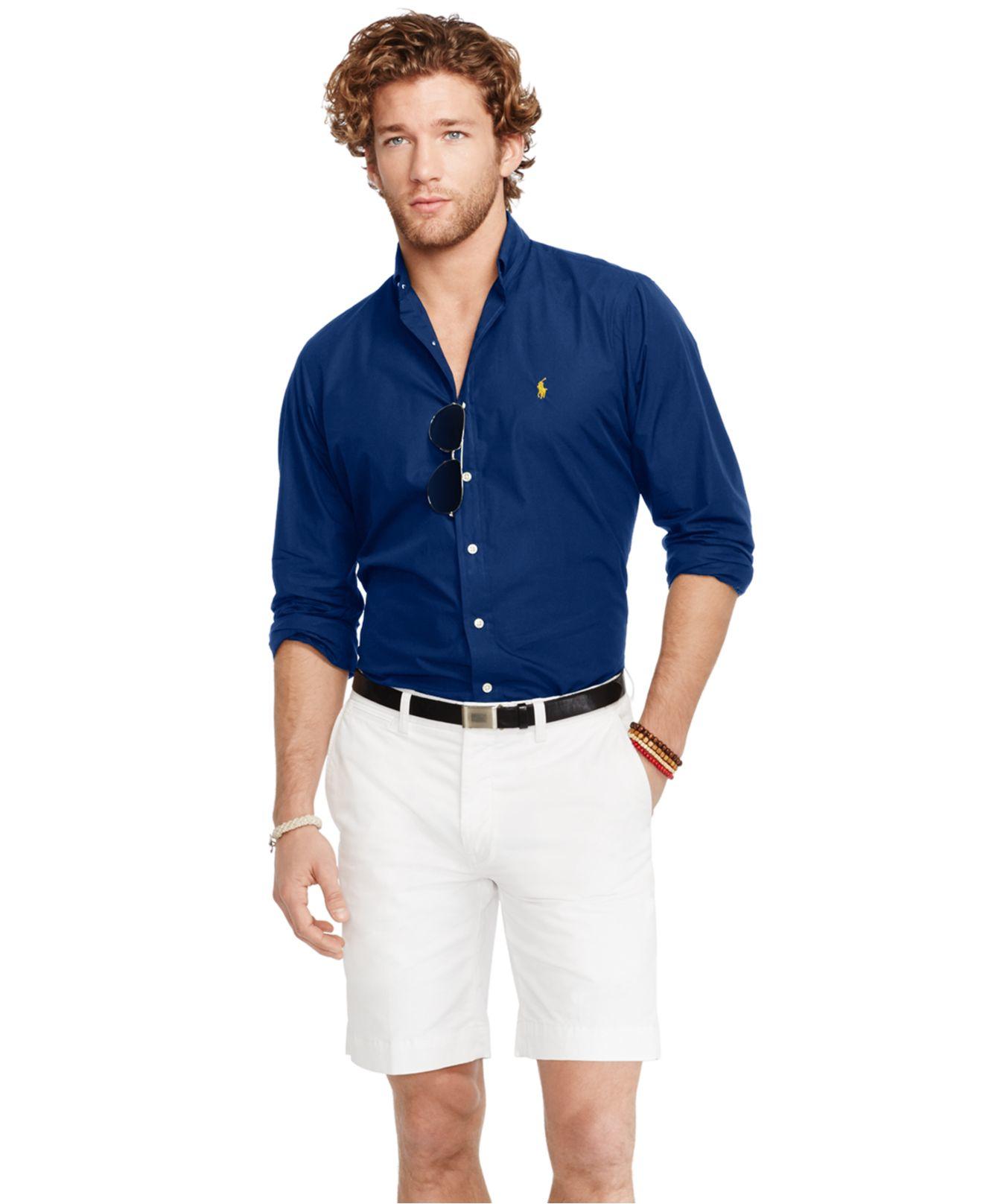 75b25585 Ralph Lauren Navy Blue Slim Fit Poplin Shirt - Nils Stucki ...