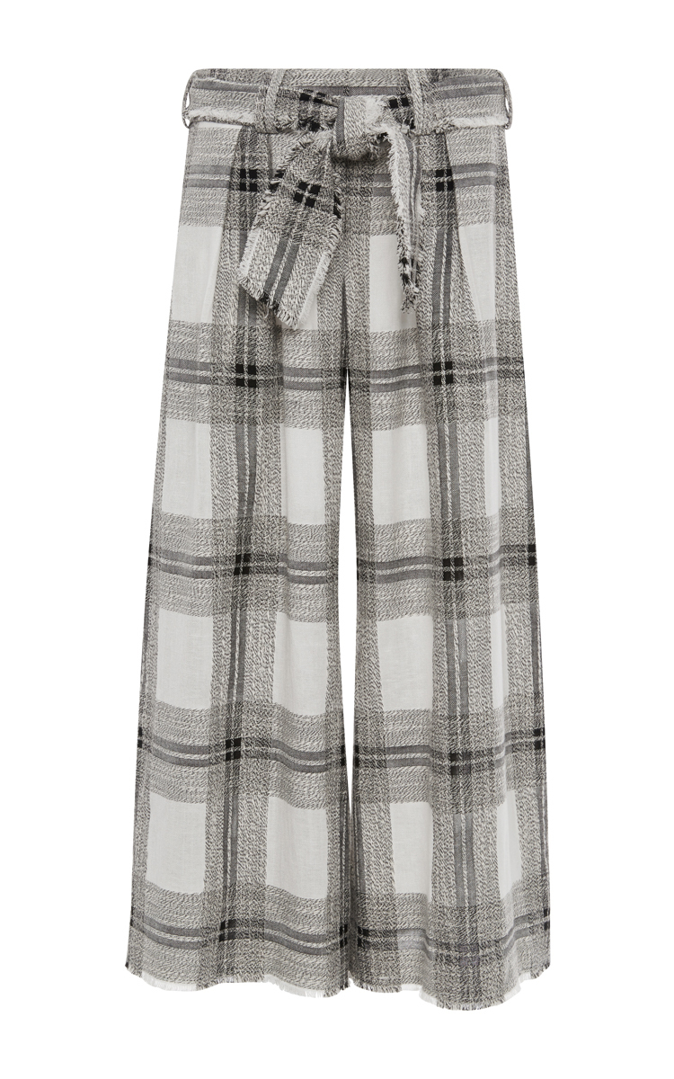 Zimmermann Empire Raw Cotton And Linen Plaid Lounge Pants | Lyst