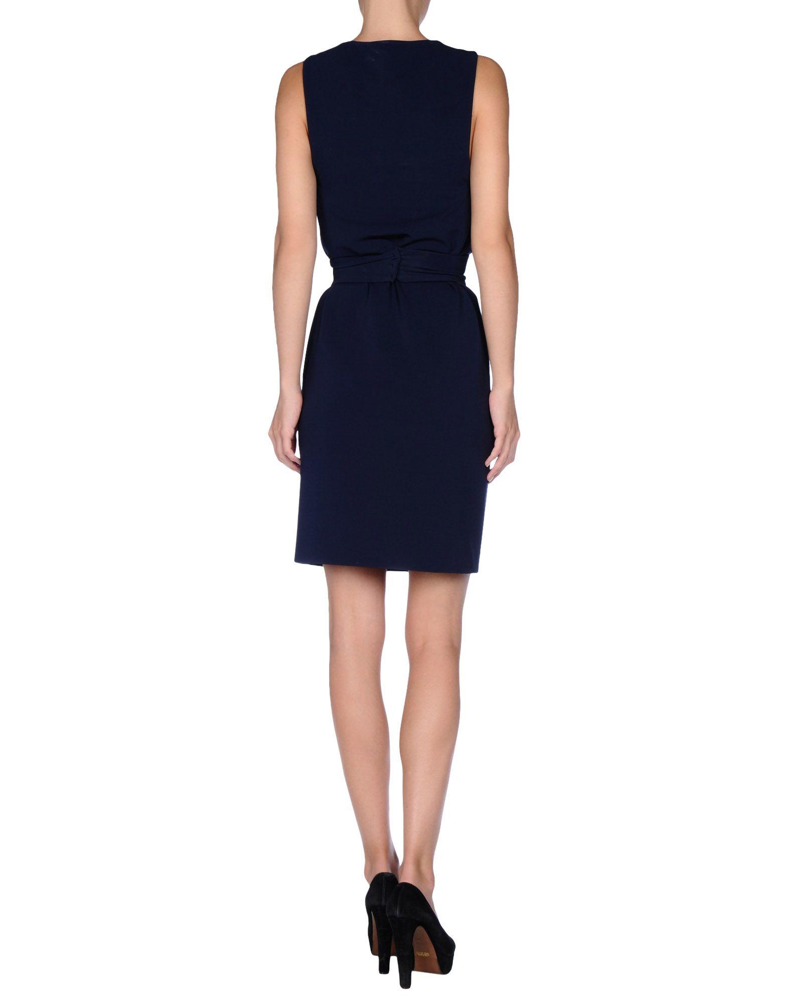 gucci short dress in blue lyst