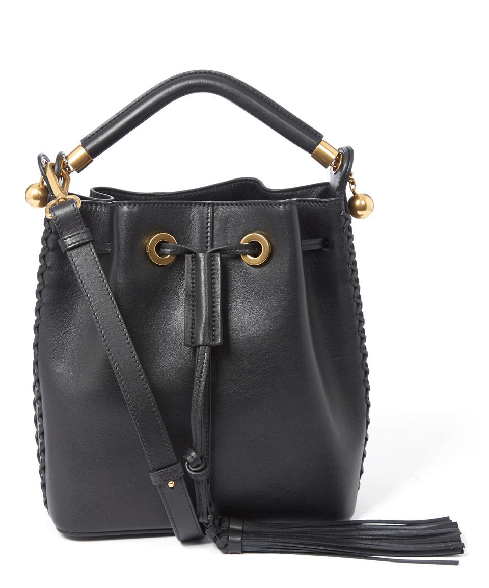 chloe satchel handbag - Chlo�� Medium Black Gala Bucket Bag in Black | Lyst