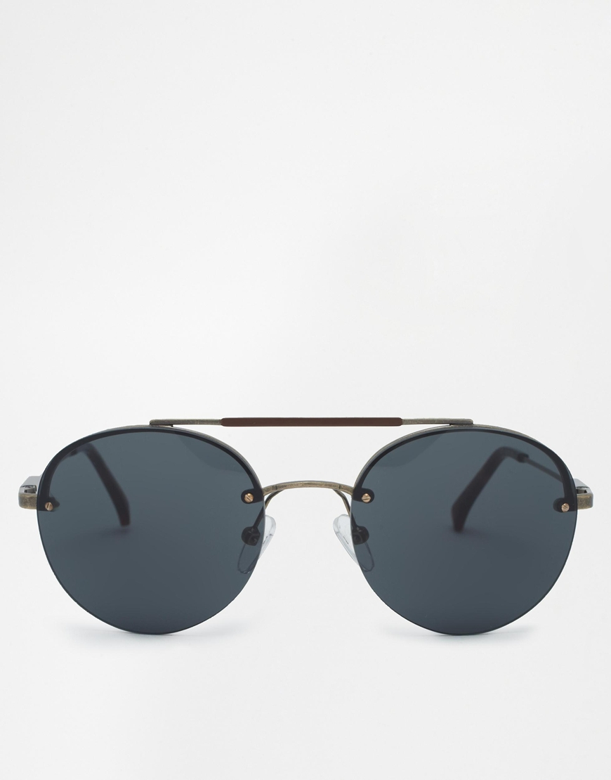 aec5a47f4bf Lyst - Calvin Klein Ck Jeans Aviator Sunglasses in Brown for Men