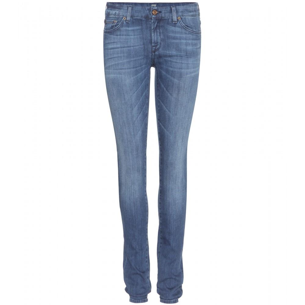 7 for all mankind cristen slim fit jeans in blue lyst. Black Bedroom Furniture Sets. Home Design Ideas
