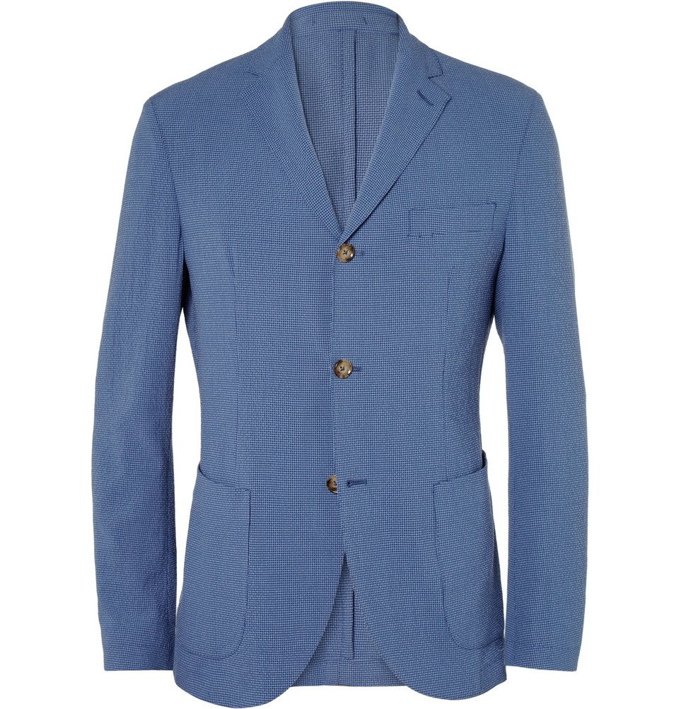 Incotex Montedoro Slim Fit Lightweight Wool And Silk Blend