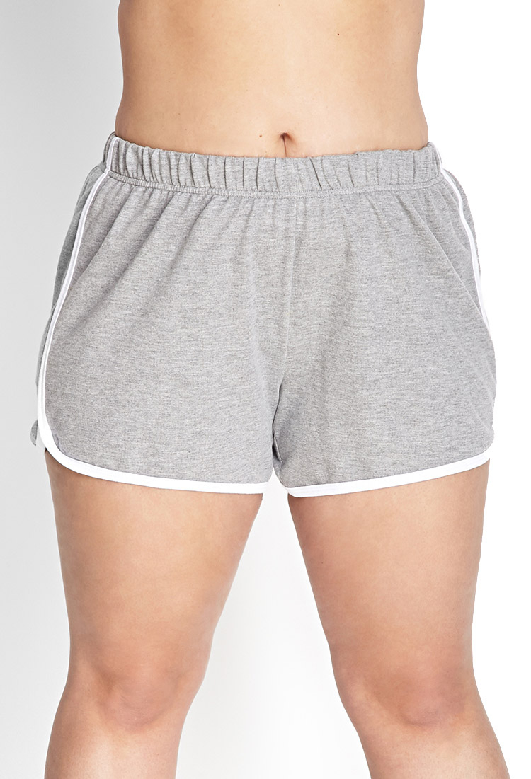 Forever 21 Athletic Inspired Dolphin Shorts In Gray Lyst