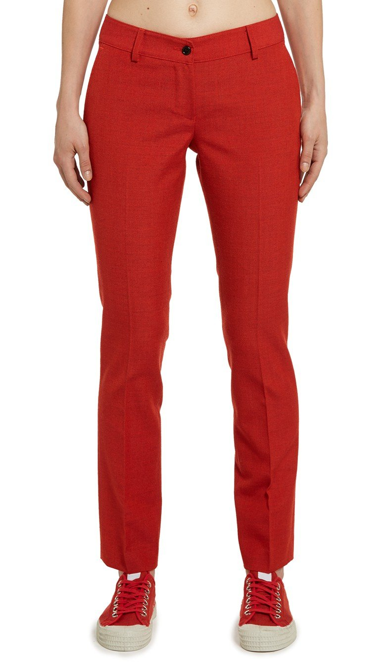 Matthew miller red kvadrat leto tailored trousers in red for Tailored fit shirts meaning