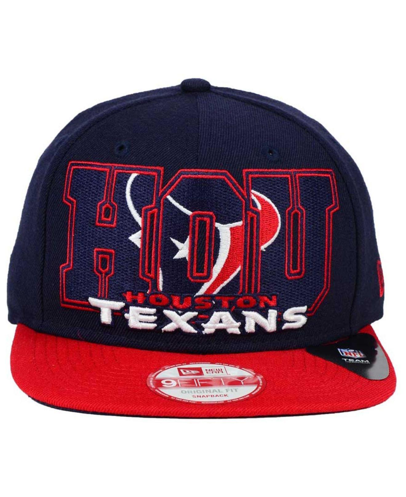 best website 6b822 8dc09 Lyst - Ktz Houston Texans Big City 9fifty Snapback Cap in Blue for Men