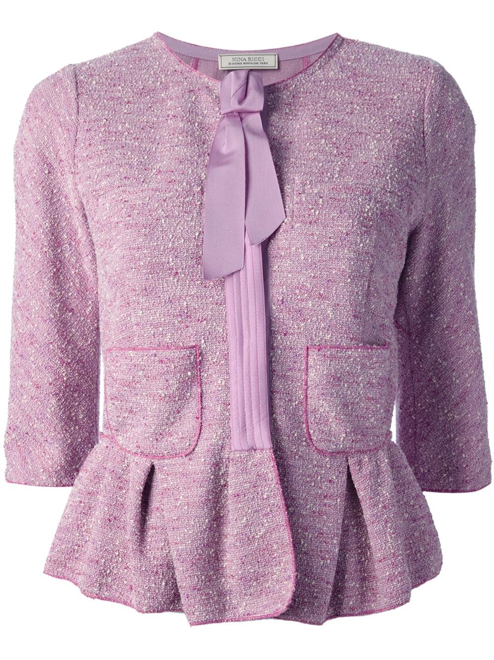 766c429abe09 Lyst - Nina Ricci Tweed Jacket in Purple