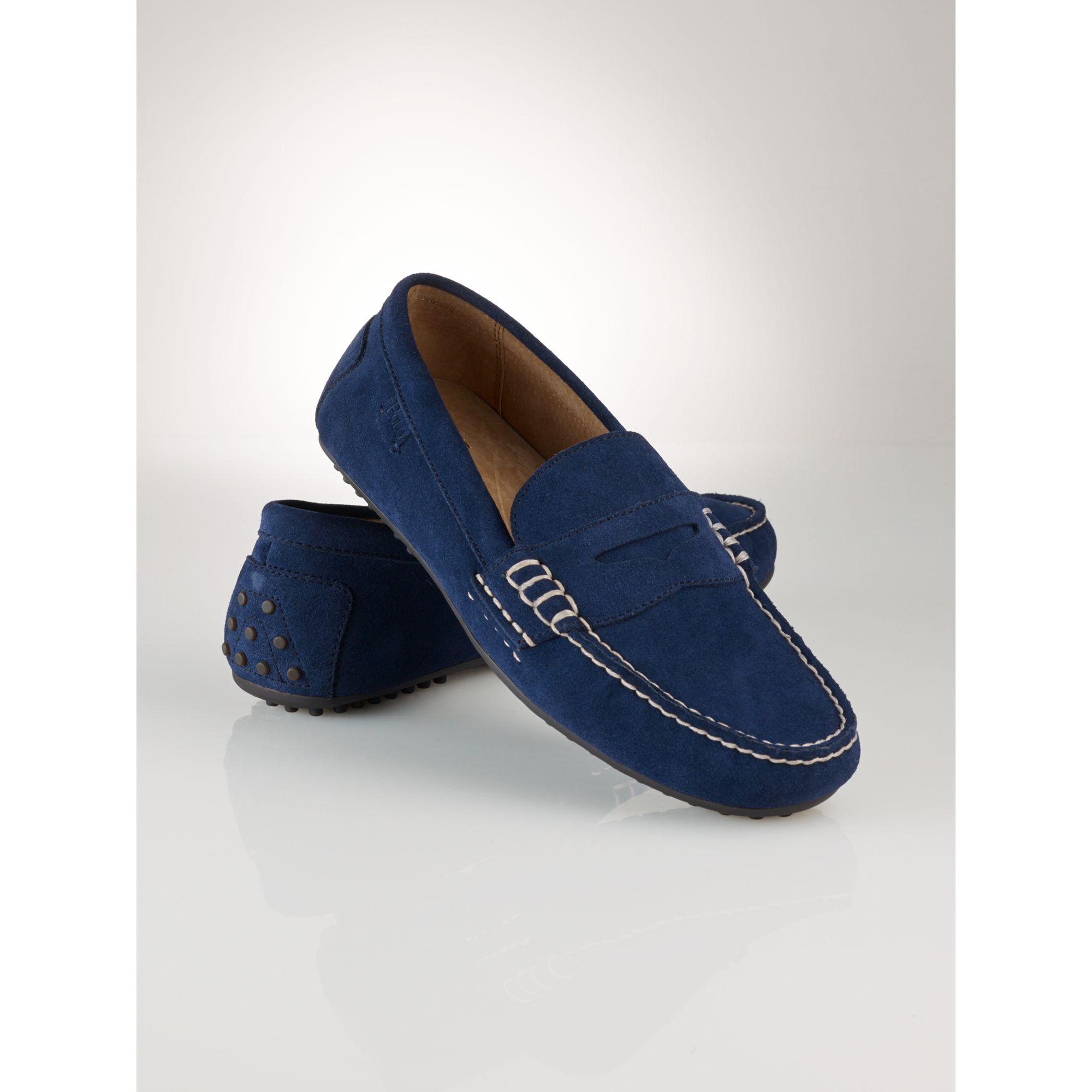 Ralph Blue Men Wes Lauren Suede Penny Loafer Polo For BoeQrdCxW