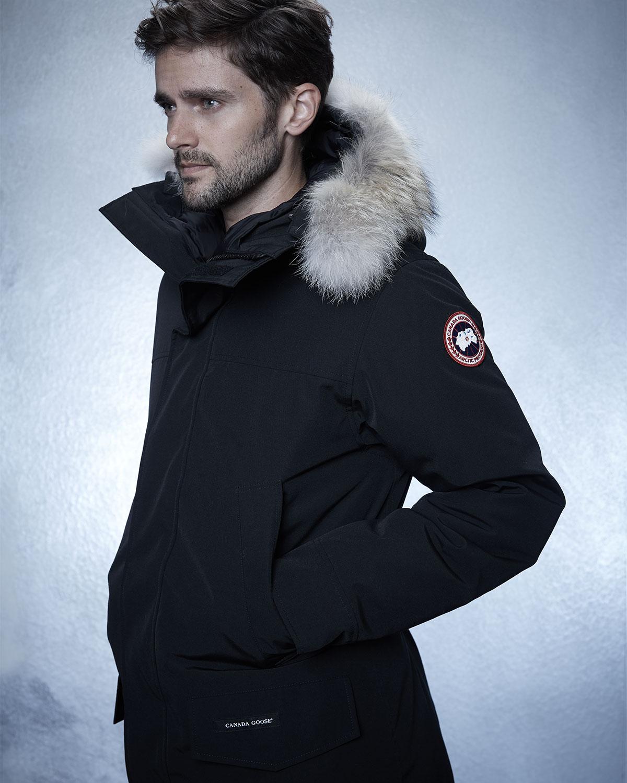 canada goose langford arctic tech parka jacket with fur. Black Bedroom Furniture Sets. Home Design Ideas