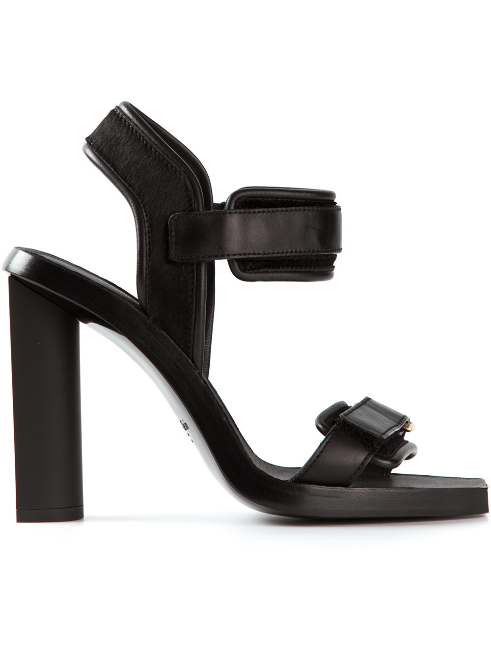 Black sandals chunky heel - Gallery