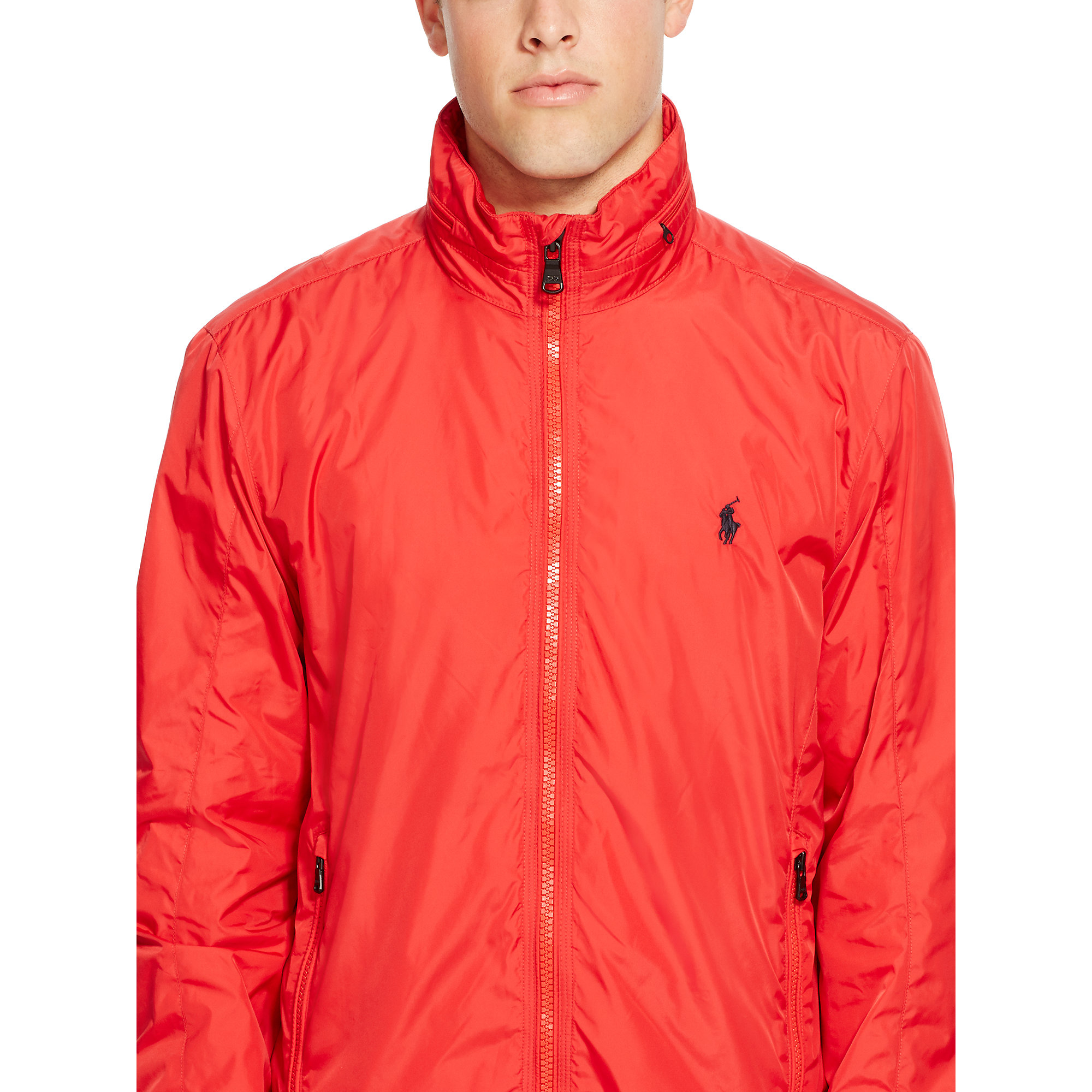 5dd8053934 Polo Ralph Lauren Red Hooded Windbreaker for men