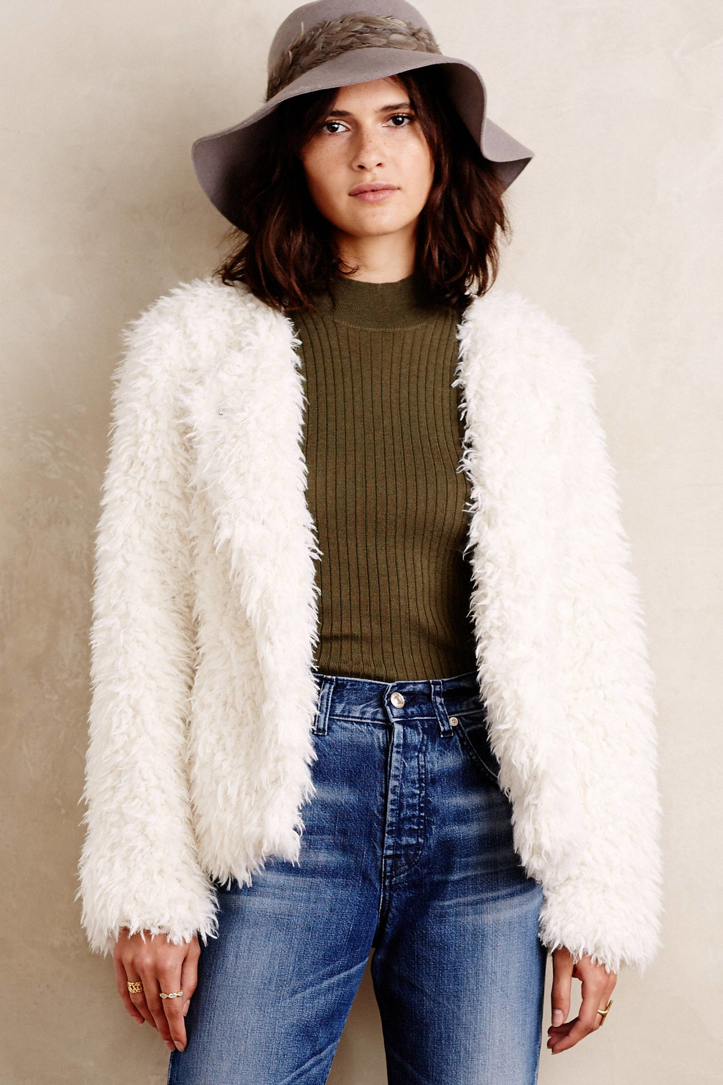 Sanctuary Denali Faux-fur Jacket in White | Lyst