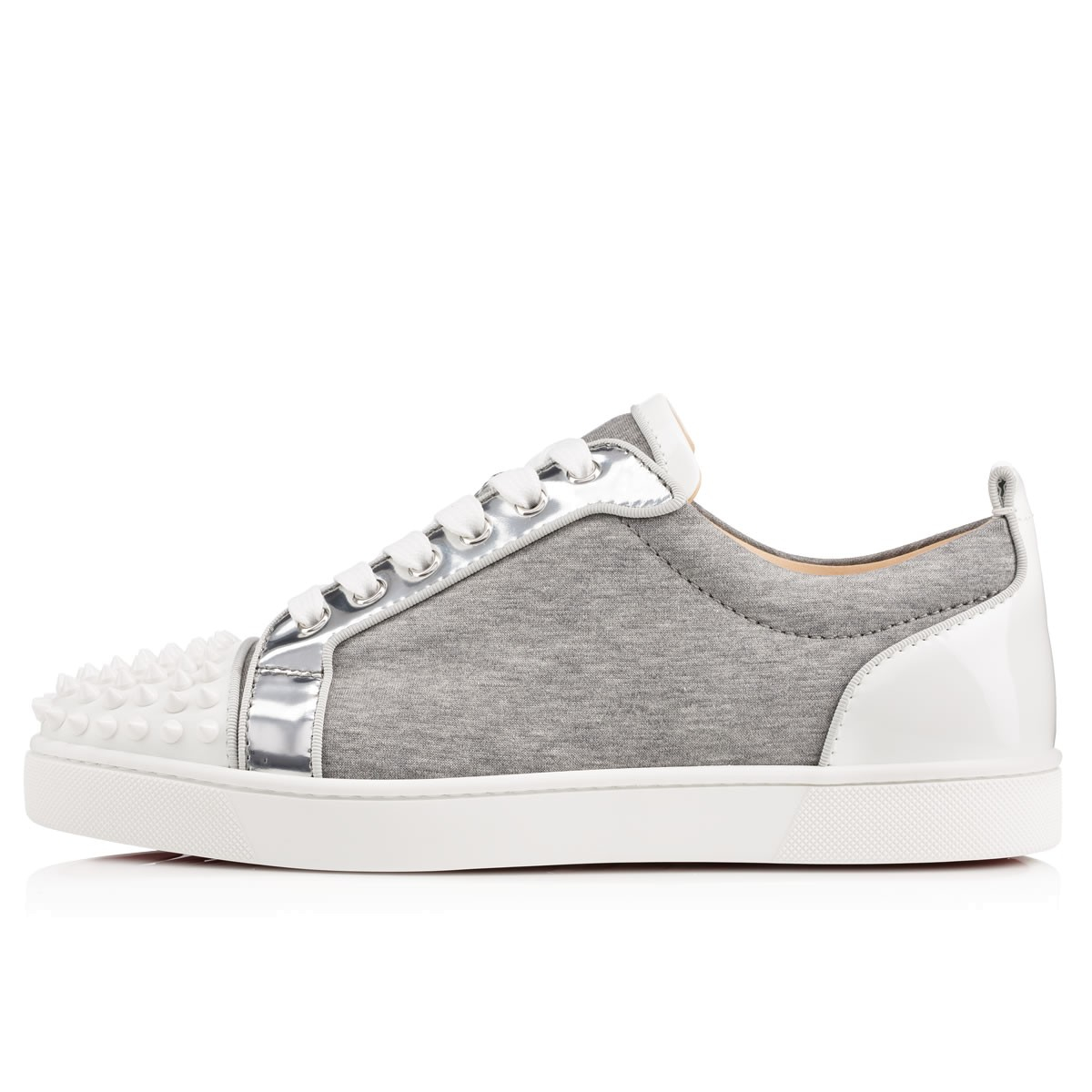 8cde405f8d4 Lyst - Christian Louboutin Louis Junior Spikes Mens Flat in Gray for Men