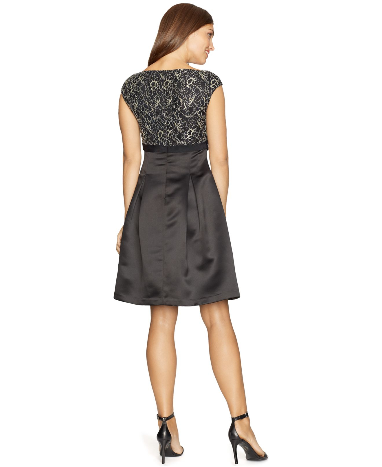 American Living Lace A Line Dress In Black Lyst