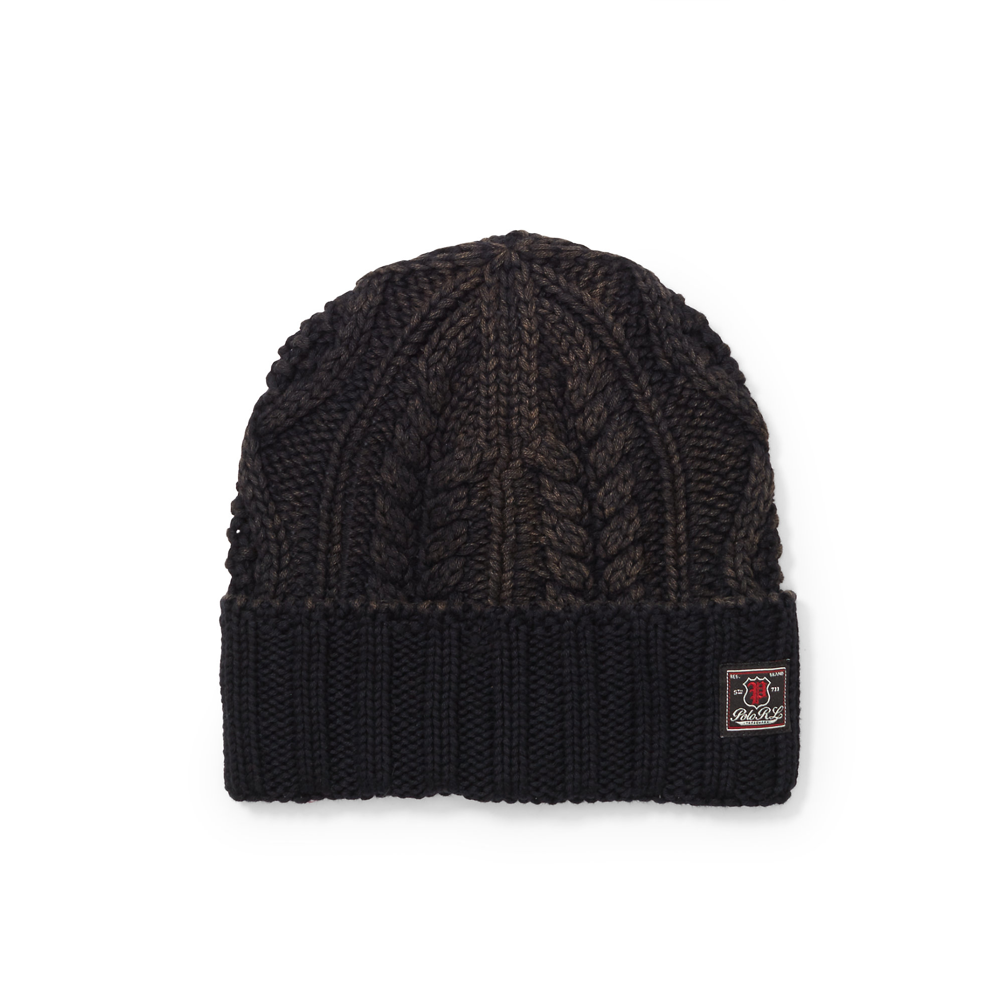 e448748cae3 Lyst - Polo Ralph Lauren Aran-knit Cotton Hat in Black for Men
