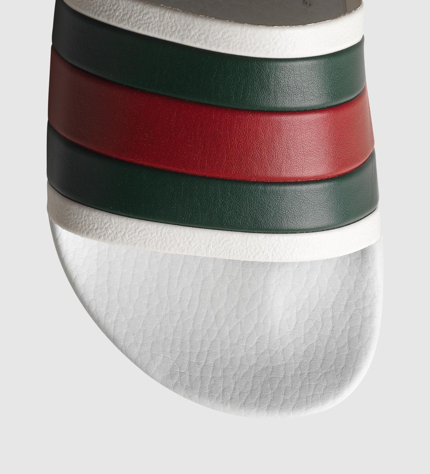 White Rubber Slide Sandal