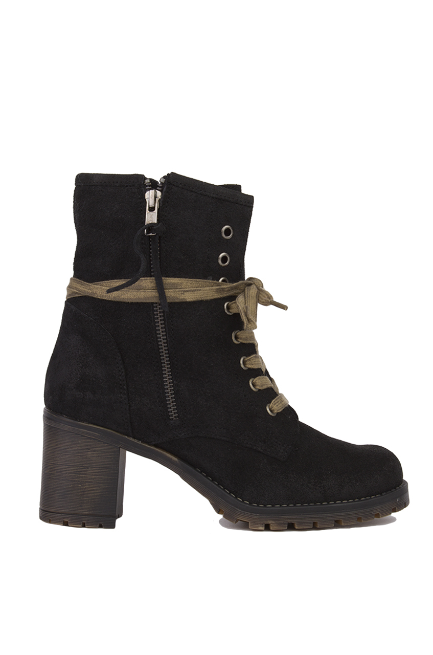 sixtyseven heeled lace up ankle boots in black lyst
