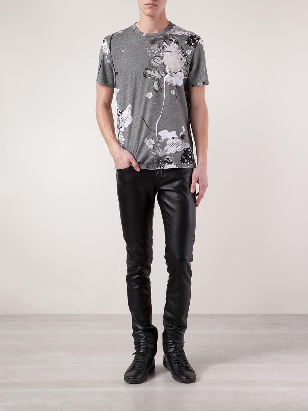 Lyst Rag Bone Leo Printed Tshirt In Gray For Men