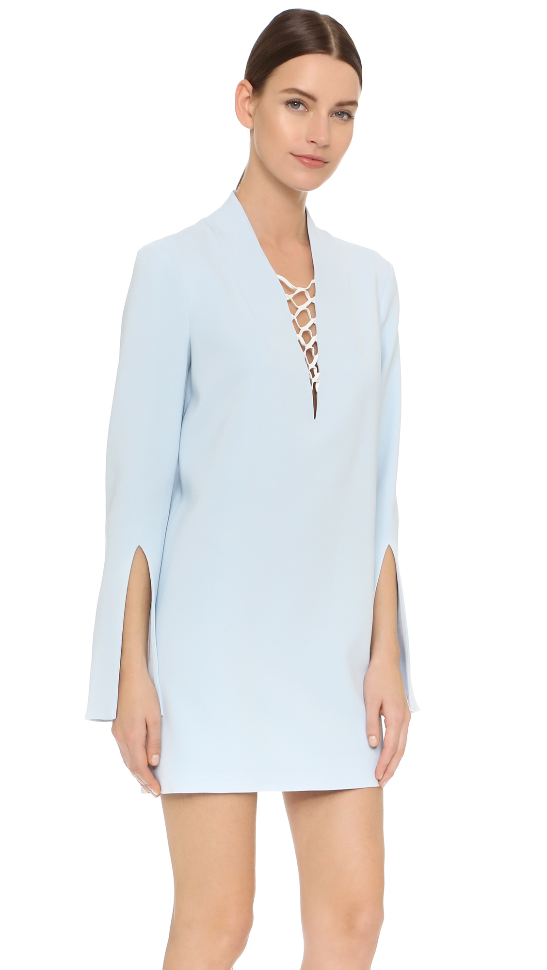 914ee67499a Dion Lee Mesh Laced Dress in Blue - Lyst
