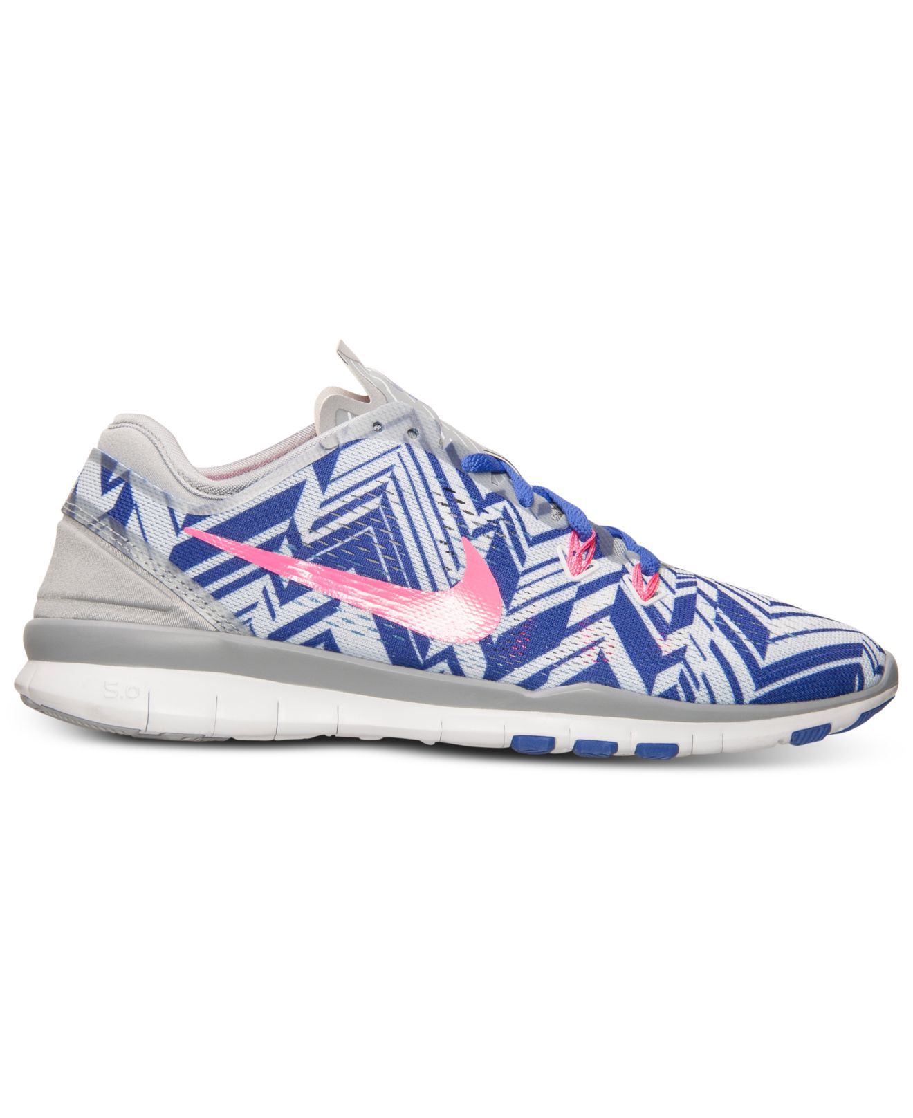e4d504815bb6d ... purchase lyst nike womens free 5.0 tr fit 5 print training sneakers  from ba338 c4fc1