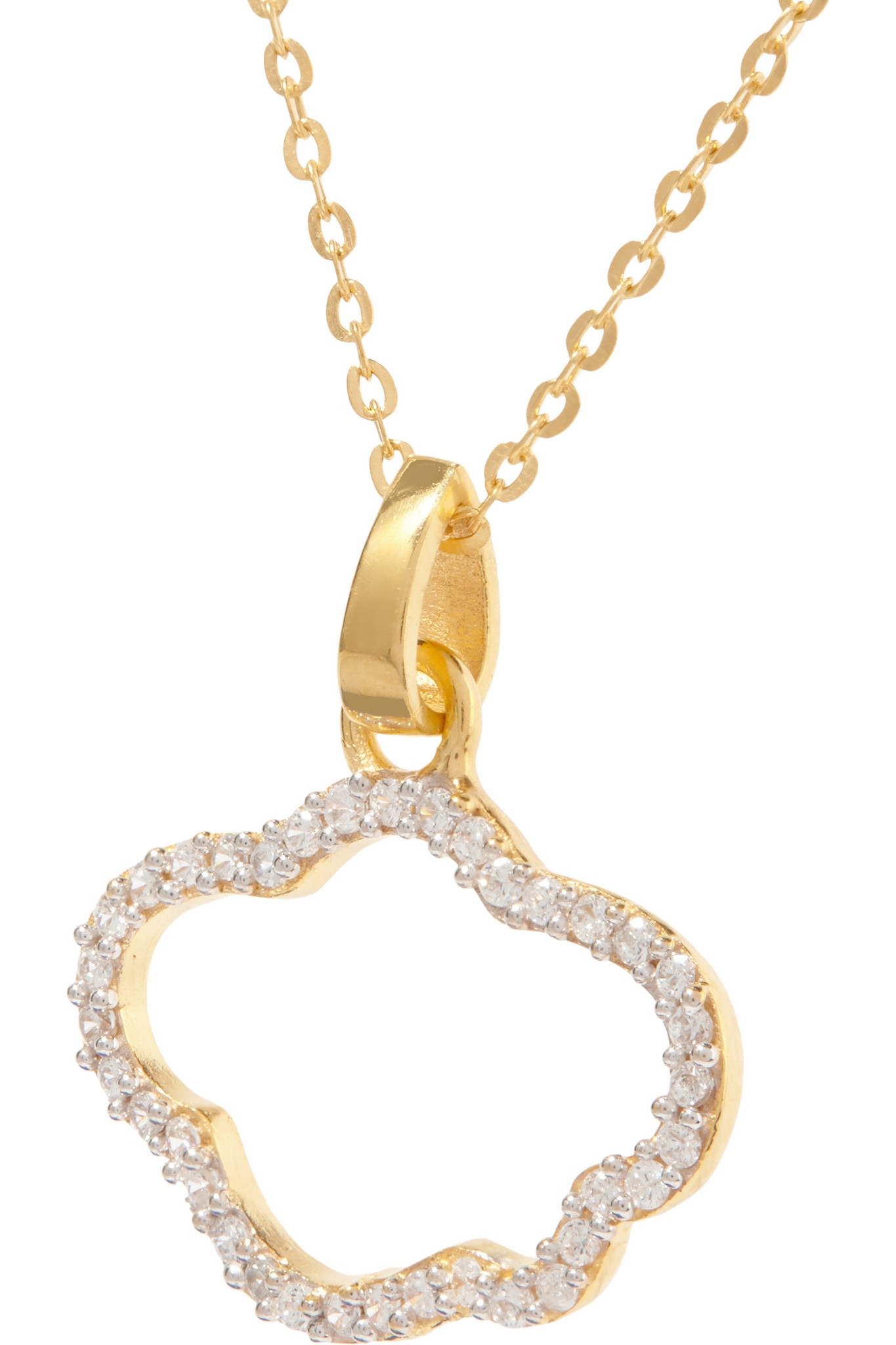 Aamaya By Priyanka Cloud Gold-plated Topaz Necklace in Metallic