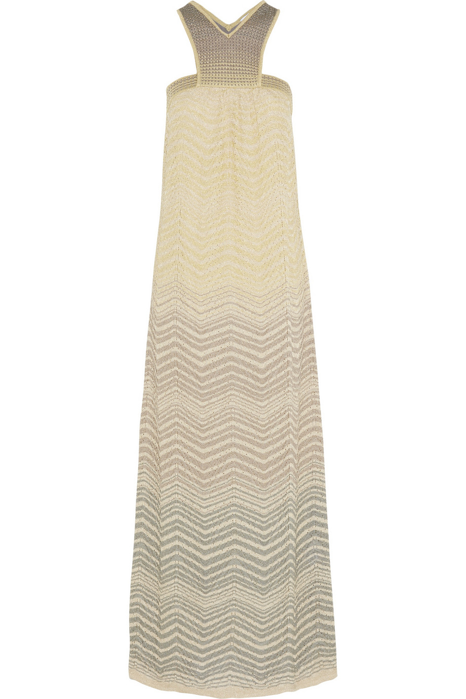 M missoni Crochet-Knit Maxi Dress in Yellow  Lyst