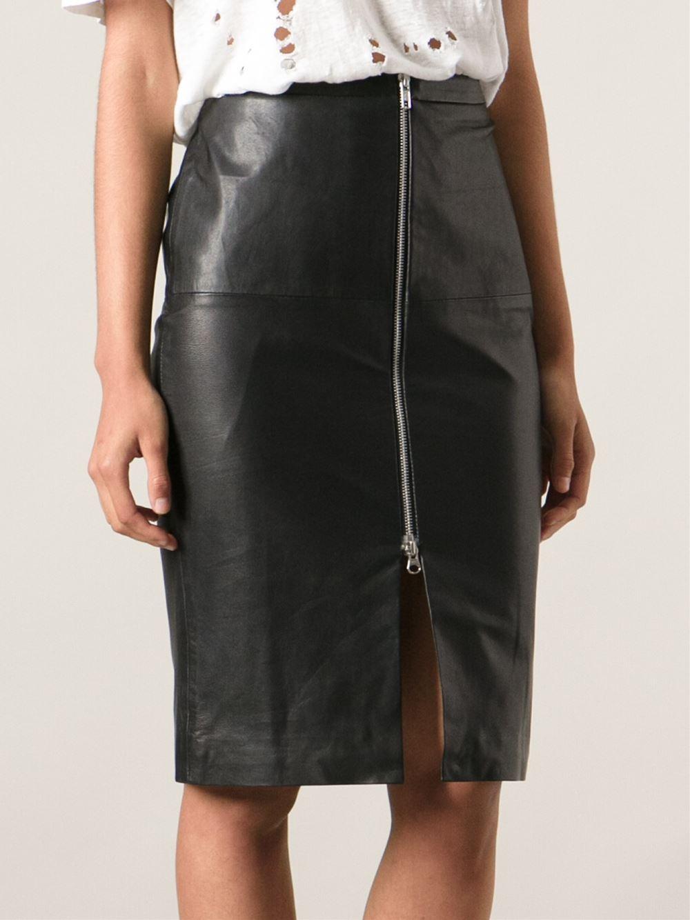 a4eebf145 Muubaa Leather Pencil Skirt in Black - Lyst